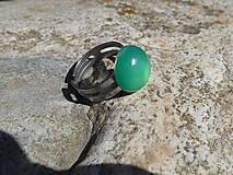 Prstene - anel de calcedona verde - 9488675_