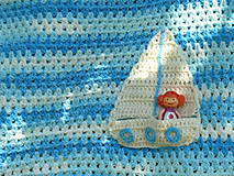 Textil - Detská deka Na modrých vlnách - 9488203_