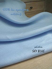 Textil - 100% len metráž, 185g/m2...odstín SKY BLUE - 9488177_