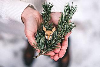 Odznaky/Brošne - Drevená brošna - Dear doe - 9487087_
