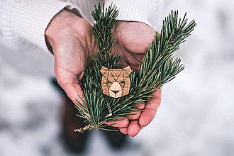 Odznaky/Brošne - Drevená brošna - Dear bear - 9487119_