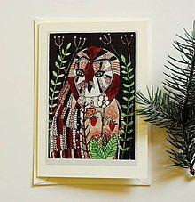 Papiernictvo - pohľadnica sova - 9487718_