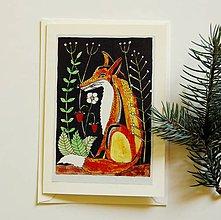 Papiernictvo - pohľadnica líška - 9487720_