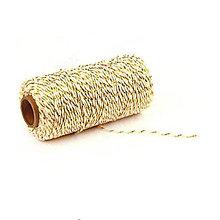 Galantéria - Farebné bavlnené lanko (Zlatá) - 9486701_