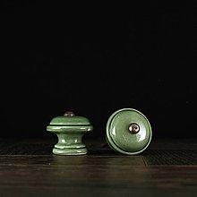 Nábytok - Úchytka - knopka zelená - vzor č. 3 malá - 9488492_