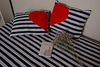 Úžitkový textil - námornícká láska - posteľná bielizeň - 9487822_
