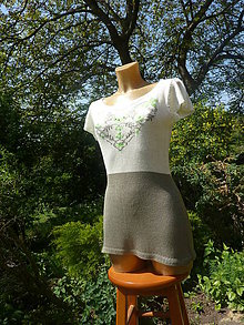 Tričká - Bambusové tričko vyšívané - 9488299_