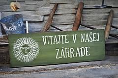 - Uvítacia doska do záhrady - 9487037_