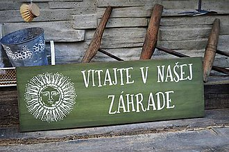 Tabuľky - Uvítacia doska do záhrady - 9487037_