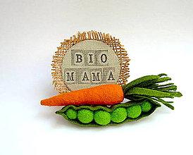 Odznaky/Brošne - Brošňa Bio mama - 9489762_