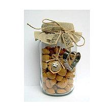 Dekorácie - Bio oriešky ľanové s dreveným kvietkom alebo srdiečkom - 9489809_