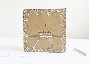 Papiernictvo - Malý svadobný album - NATUR 20x20 - 9491078_