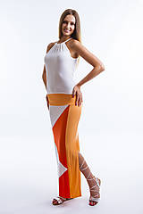 Sukne - Summer-light orange (R019) - 9491343_