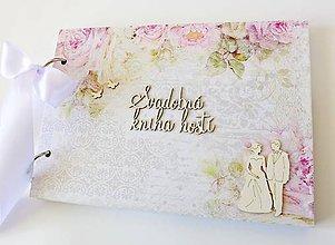 Papiernictvo - svadobná kniha hostí - 9489874_