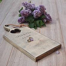 Prstene - Svadobný lopár so srdiečkom - 9491084_