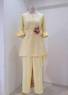 Nohavice - Úzke nohavice na puky žlté - 9489714_