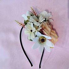 Ozdoby do vlasov - Kvetinová čelenka III - 9490085_