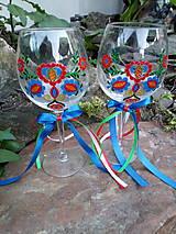 Nádoby - Folk svadobné poháre Račiansky ornament - 9491370_