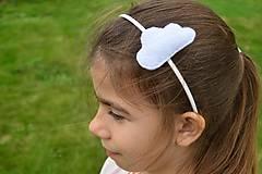 Ozdoby do vlasov - Čelenka s obláčikom - 9490323_