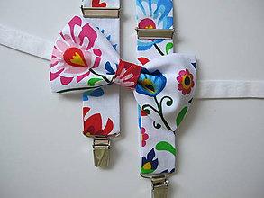Doplnky - Pánsky motýlik a traky-slovenské ornamenty - 9489763_