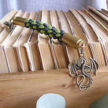 Kľúčenky - karabína s nábojnicami a príveskom Daenerys - 9490723_