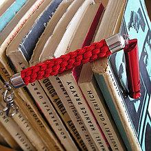Iné - kľúčenka s píšťalkou červená - 9490764_