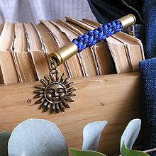 Kľúčenky - karabína s nábojnicami a príveskom Slnko - 9490899_