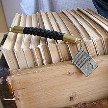 Kľúčenky - karabína s nábojnicami a príveskom Karty - 9490915_