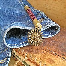 Kľúčenky - prívesok na tašku Slnko - 9491373_
