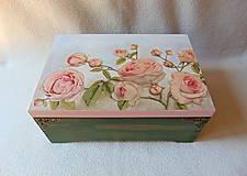 Krabičky - Drevená truhlička Z ružovej záhrady - 9489153_