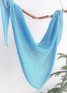 Šatky - Bavlnený pléd Lily- Modré nebo - 9489080_