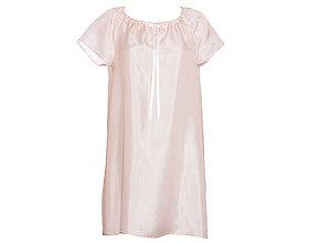 Pyžamy a župany - Lilly - nočná košeľa, ružová, hodváb - 9491774_
