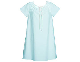 Pyžamy a župany - Lilly - nočná košeľa, bio bavlna, modrá - 9491789_