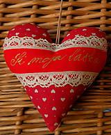 Srdiečko s levanduľou a textom (si moja láska)