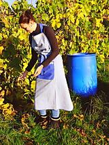 Iné oblečenie - Dámska FILKI fertucha (modrá s prúžkami) - 9489108_