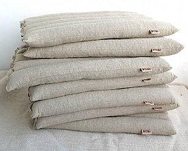 Úžitkový textil - FILKI sedák plnený šupkami (režný poloľan) - 9489181_