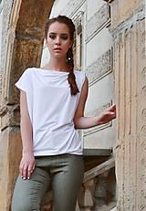 Oversize asymmetric top (white)