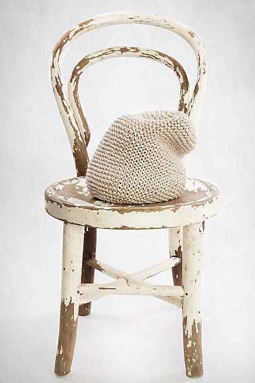 725a0e10f1 Bavlnená čiapka-slouchy beanie (Béžová)   LAF - SAShE.sk - Handmade ...