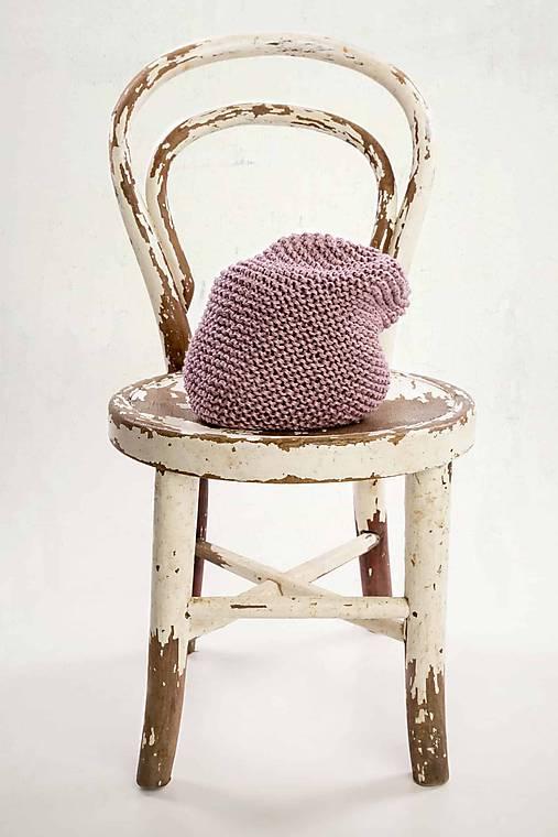 a0259accfd Bavlnená čiapka-slouchy beanie (Ružová)   LAF - SAShE.sk - Handmade ...