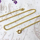 Náhrdelníky - Golden Chain 41 cm / Retiazka 41 cm bižutérna - zlato /0248 - 9493106_