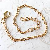 Náramky - Golden Bracelet Chain / Retiazka na ruku 17-23 cm bižutérna - zlato /0246 - 9493119_