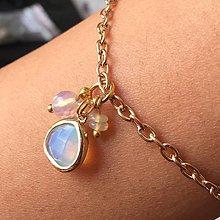 Náhrdelníky - Birthstone JANUARY Opal Opalite Zircon Pendant / Prívesok s minerálmi opál, opalit a brúseným zirkónom /0247 - 9493087_
