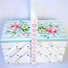 Krabičky - Skrinka na šijacie potreby-Maria Blue - 9495018_