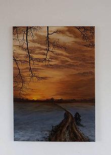 Obrazy - Obraz - Zimný podvečer - Reprodukcia - 9492483_