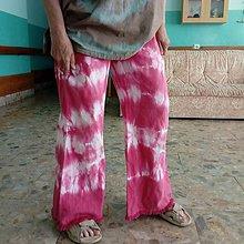 Nohavice - Hippie pruhy ružové- zľava zo 14,50 eur - 9493257_