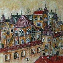 Obrazy - Starobylé mestečko - 9495016_