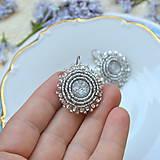 Náušnice - Sparkly earrings n.2  - vyšívané náušnice - 9492331_