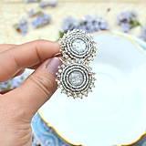 Náušnice - Sparkly earrings n.2  - vyšívané náušnice - 9492333_