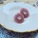 Náušnice - Sparkly earrings n.3  - vyšívané náušnice - 9492350_