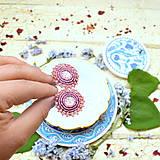 Náušnice - Sparkly earrings n.3  - vyšívané náušnice - 9492351_